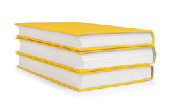 Stack of vintage books in a yellow cover Royalty Free Stock Photo