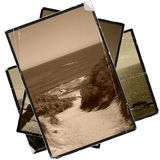 Stack of vintage pictures Royalty Free Stock Images