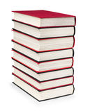 Stack of vintage red and black books Royalty Free Stock Photo