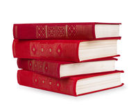 Stack of vintage red books Royalty Free Stock Photography