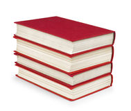 Stack of vintage red books Stock Images