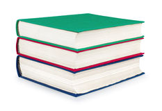 Stack of vintage red, green and blue books Royalty Free Stock Photography