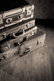 Stack of vintage suitcases Stock Photos