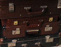 Stack of vintage suitcases Royalty Free Stock Image