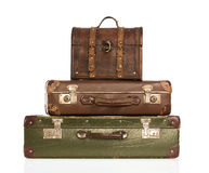 Stack of vintage suitcases Royalty Free Stock Images