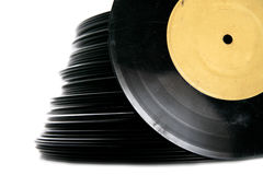 Stack of vinyl record Royalty Free Stock Photos