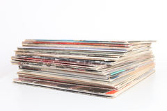 Stack of Vinyl Record Album Covers Royalty Free Stock Photography
