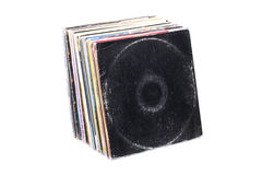 Stack of vinyl records Royalty Free Stock Photo