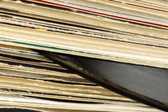 Stack of vinyl records in covers Stock Photos
