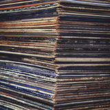 Stack of vinyl records in envelopes Royalty Free Stock Images