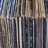 Stack of vinyl records in envelopes Royalty Free Stock Photos