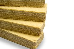 Stack of wafers Stock Photo