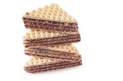 Wafers with chocolate Royalty Free Stock Photography