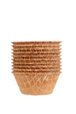Stack of waffle bowls Royalty Free Stock Photography
