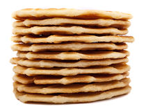 Stack of waffle cookies Royalty Free Stock Image
