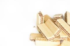 Stack waffle isolated on white background. The stack waffle isolated on white background Stock Photos