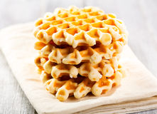 Stack of waffles Stock Photo