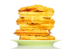 Stack of waffles Stock Images