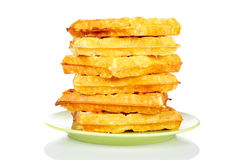 Stack of waffles Royalty Free Stock Image