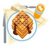 Stack of waffles Royalty Free Stock Photo