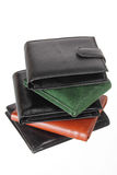 Stack of Wallets Royalty Free Stock Images