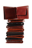 Stack of wallets #5 | Isolated Stock Photo