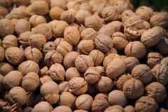 Stack of walnuts Royalty Free Stock Photography
