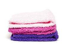 Stack of washcloth of terry cloth Stock Photos