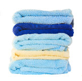 Stack  of washed towel Royalty Free Stock Photos