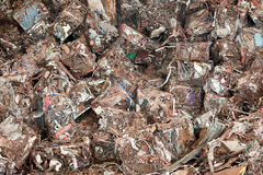 Stack of  waste  at recycling yunkyard Stock Images
