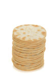 Stack of water crackers Stock Photography