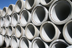 Stack of water pipes. Close-up of stack of water pipes Royalty Free Stock Image