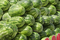 A stack of watermelon Royalty Free Stock Photos