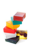 Stack of wet soap   Isolated Stock Photos