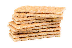 Stack of wheat crackers Royalty Free Stock Images