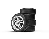 Stack of wheels Royalty Free Stock Image