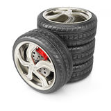 Stack of wheels Stock Photos
