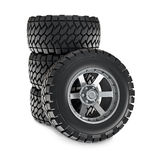 Stack of wheels Royalty Free Stock Images