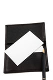 Stack of white blank card in card holder Stock Photography