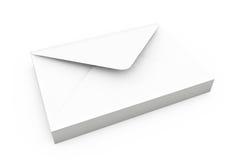 Stack of White Blank Envelopes Stock Image