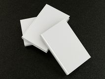 Stack of white books. High resolution on  black leather Royalty Free Stock Photography