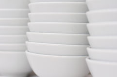 Stack of white bowls Stock Photography