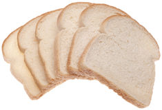 Stack of White Bread Stock Image
