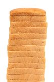 Stack of white bread. Toasts. Stock Image