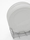 Stack of white dining plates Royalty Free Stock Photography