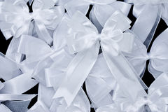 Stack of white fabric bow Royalty Free Stock Photography