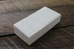Stack of White Facial Tissues. Stack of White Facial Tissues Royalty Free Stock Photo