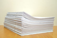 Stack of white journals Stock Photography