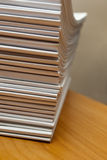 Stack of white journals Royalty Free Stock Photos
