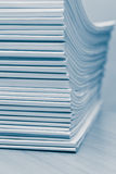 Stack of white journals Royalty Free Stock Photo
